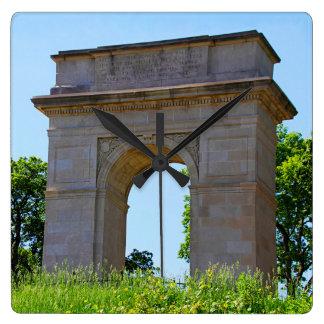 Rosedale World War I Memorial Arch, Kansas City Square Wall Clock