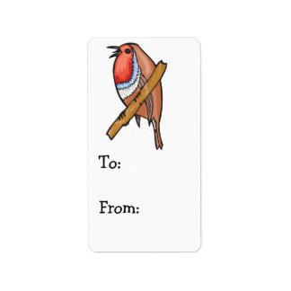 rosefinch bird label