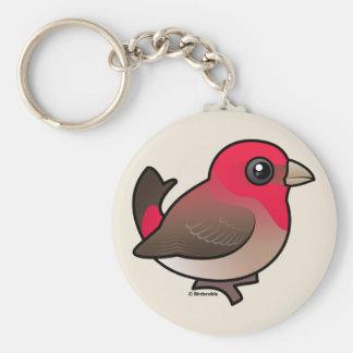 Rosefinch común lindo llaveros personalizados