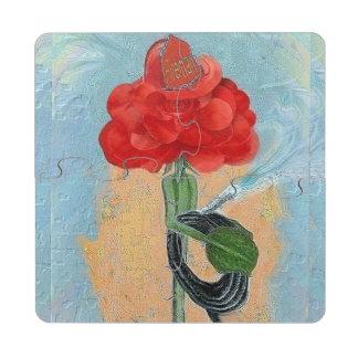 Rosegifts Fireman Rose coaster puzzle Puzzle Coaster