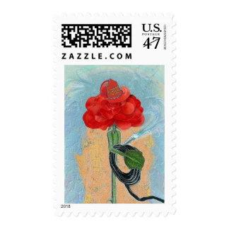 Rosegifts Fireman Rose postage stamps