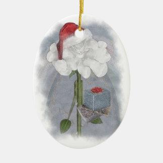 Rosegifts Santa Rose Ornament