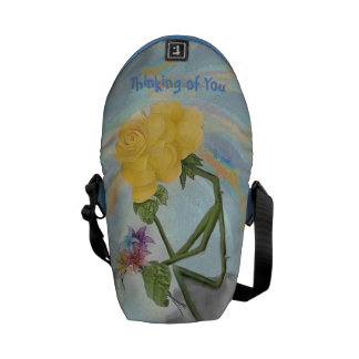 Rosegifts Thinker Rose Mini Messenger Bag