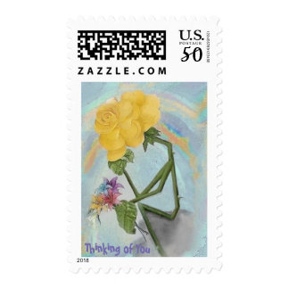 Rosegifts Thinker Rose postage stamps