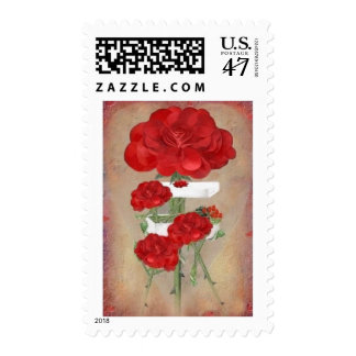 Rosegifts Valentine Box of Roses postage stamps