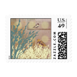 Rosegold Pussy WIllow Bird Design Stamp
