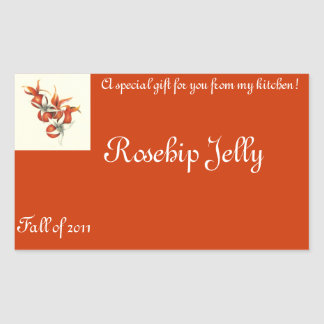 Rosehip Jelly Stickers