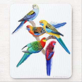 Rosella Parrots Mousepad