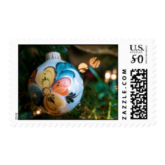 Rosemaling Christmas Ornament Postage