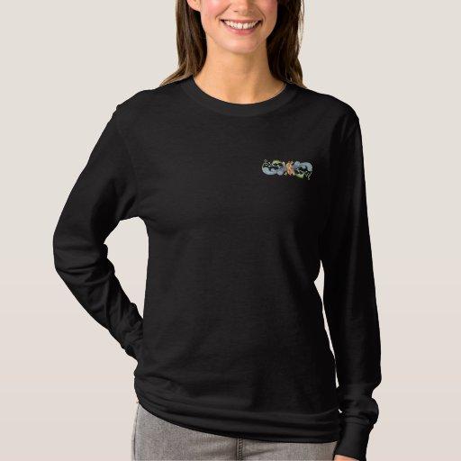 Rosemaling Embroidered Long Sleeve T-Shirt