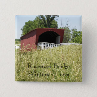 Roseman Bridge Winterset, Iowa Button