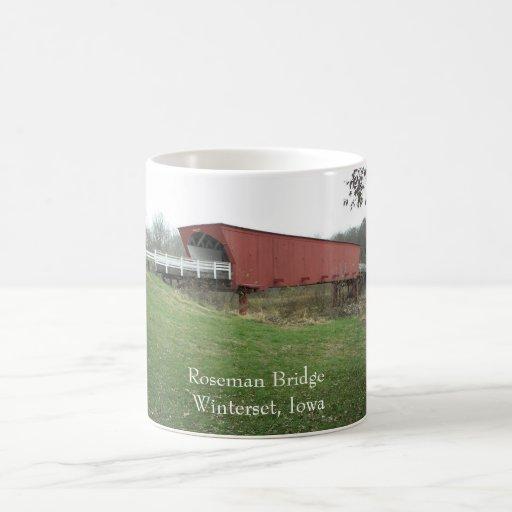 Roseman Bridge Winterset, Iowa Coffee Mugs