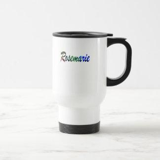 Rosemarie black white travel mug