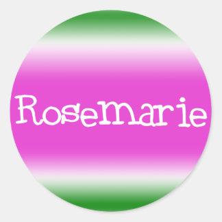 Rosemarie Classic Round Sticker