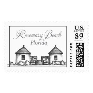 Rosemary Beach Florida Beach Huts Stamp