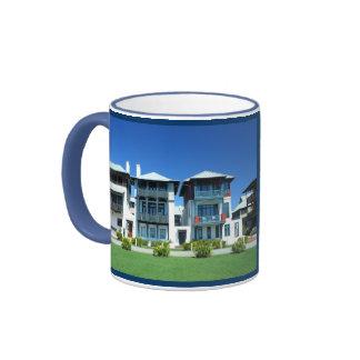 Rosemary Beach, Florida Ringer Coffee Mug