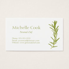 Rosemary Business Card at Zazzle