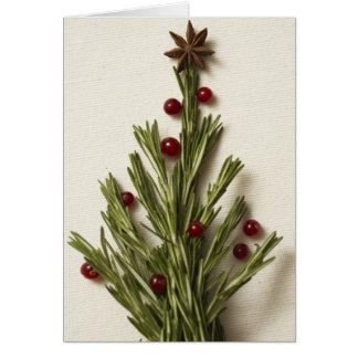Rosemary Christmas Tree Greeting Card