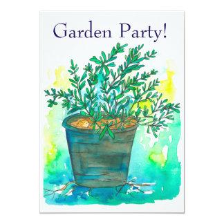 Rosemary Garden Party Invitation