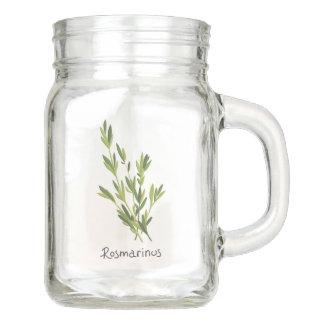 Rosemary Herb Sprig Mason Jar 12oz.