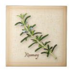 """Rosemary Herb Tile<br><div class=""""desc"""">Rosemary Herb , fragrant plant from the Mediterranean with blue flowers and dark green, aromatic leaves used as seasoning in many cuisines. A classic ingredient of the French herb blend, Herbes de Provence. See more products with this design in this store&#39;s Herbs and Spices Category/ Rosemary. Just click my store...</div>"""
