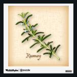 """Rosemary Herb Wall Sticker<br><div class=""""desc"""">Rosemary Herb , fragrant plant from the Mediterranean with blue flowers and dark green, aromatic leaves used as seasoning in many cuisines. A classic ingredient of the French herb blend, Herbes de Provence. See more products with this design in this store&#39;s Herbs and Spices Category/ Rosemary. Just click my store...</div>"""
