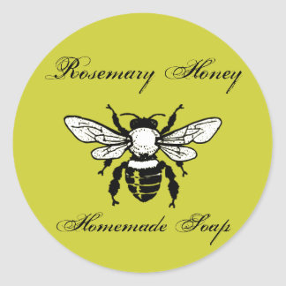 Rosemary Honey Soap Labels Classic Round Sticker