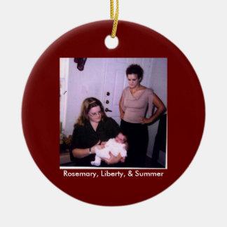 Rosemary, Liberty, & Summer Ceramic Ornament