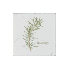 Rosemary - Marble Stone Magnet at Zazzle