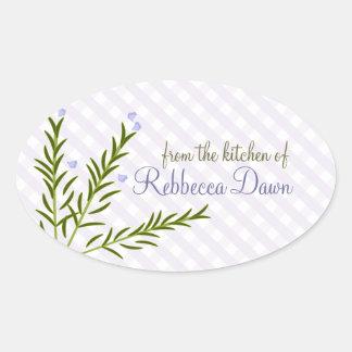 Rosemary Oval Sticker
