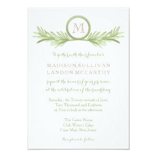 Rosemary Sprigs Herbal Wedding 5x7 Paper Invitation Card