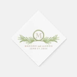 Rosemary Sprigs Herbal Wedding Standard Cocktail Napkin