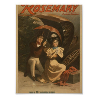 """Rosemary, teatro del vintage """"de la fuga"""" impresiones"""
