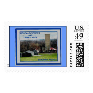 ROSEMARY'S TOWER AND TRAIN STATION STAMP