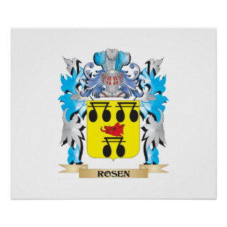Rosen Coat of Arms - Family Crest Posters