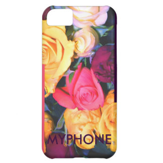 "rosen gelb rosa lila weiss ""myphone"" iPhone hülle Case For iPhone 5C"