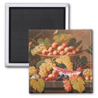 Rosen Still Life Basket of Fruit Magnet