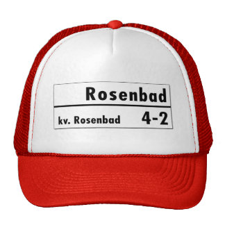 Rosenbad, Stockholm, Swedish Street Sign Trucker Hat