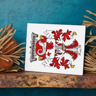 Rosengaard Family Crest Plaque