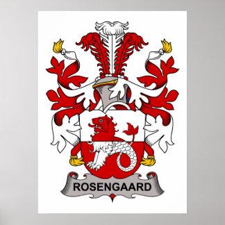 Rosengaard Family Crest Poster