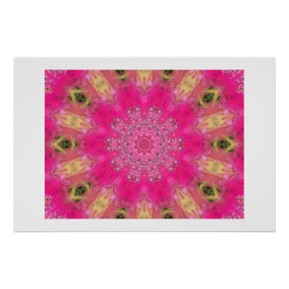 Roseous Blooms Poster