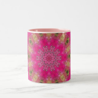 Roseous Blooms Two-Tone Coffee Mug