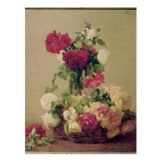 Roses, 1891 postcard