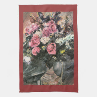 Roses 1 by Lovis Corinth Kitchen Towels