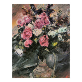 Roses 1 by Lovis Corinth Poster