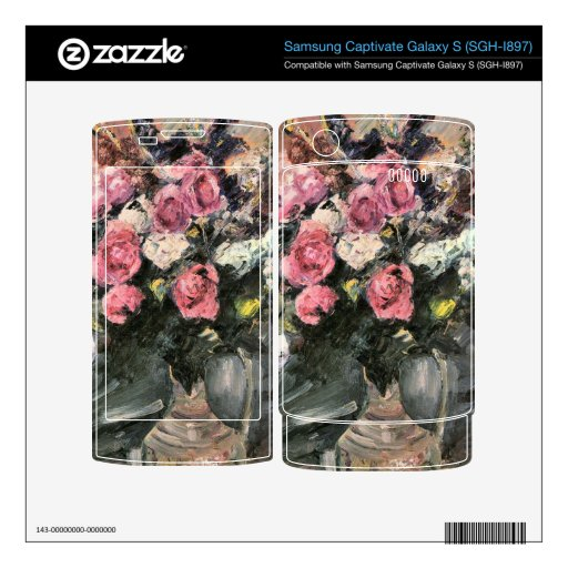 Roses 1 by Lovis Corinth Samsung Captivate Decal