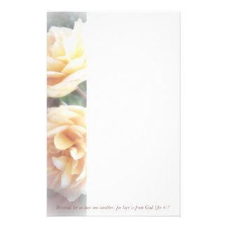 Roses/1Jn 4:7  Beloved, let us love one another, f Stationery