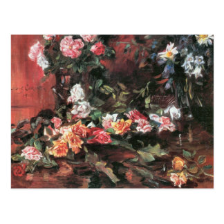 Roses 2 by Lovis Corinth Postcard