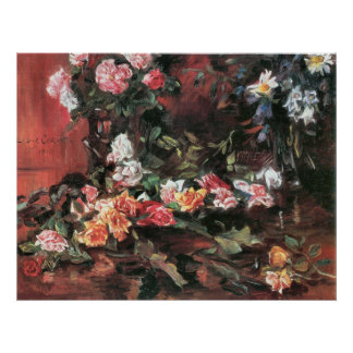 Roses 2 by Lovis Corinth Poster