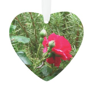 Roses 2-Sided Heart Ornament